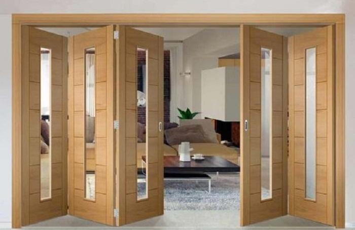 Pintu kayu minimalis jati