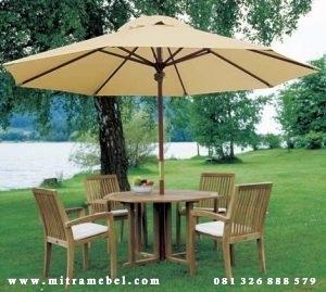 Set Meja Payung Santai Kebun