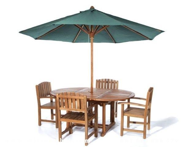Meja Payung Garden Kayu Jati