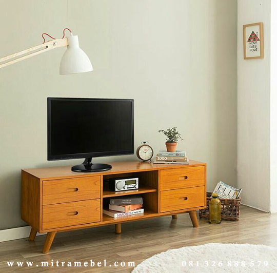 Bufet Tv Minimalis Retro Jati