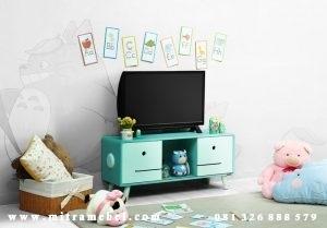 Bufet Tv Minimalis Retro Karakter