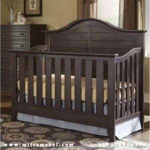 Dipan Bayi Minimalis Kayu Jati
