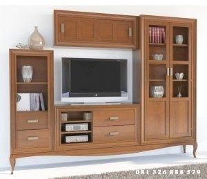 Bufet Tv Jati Klasik Modern