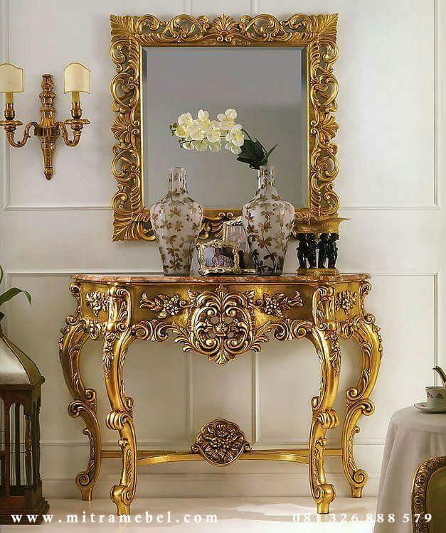 Meja Rias Ukir Mewah Luxury