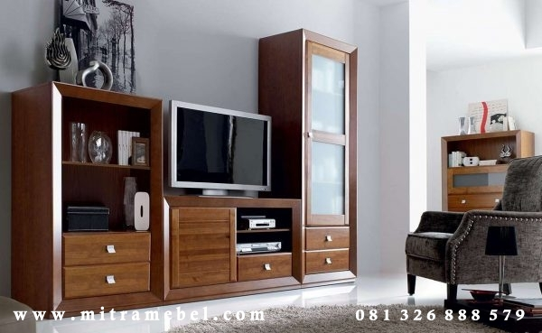 Bufet Tv Minimalis Elegant Jati