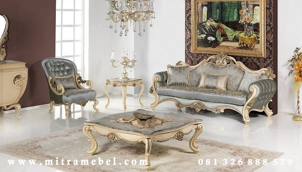 Set Kursi Sofa Furniture Luxury