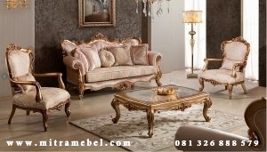 Set Sofa Kursi Tamu Furniture Luxury