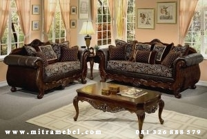Set Kursi Sofa Tamu Jati
