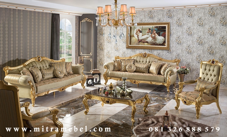 Set Kursi Tamu Sofa Luxury Elegant