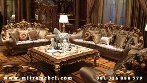 Set Kursi Tamu Sofa Ukiran Mewah