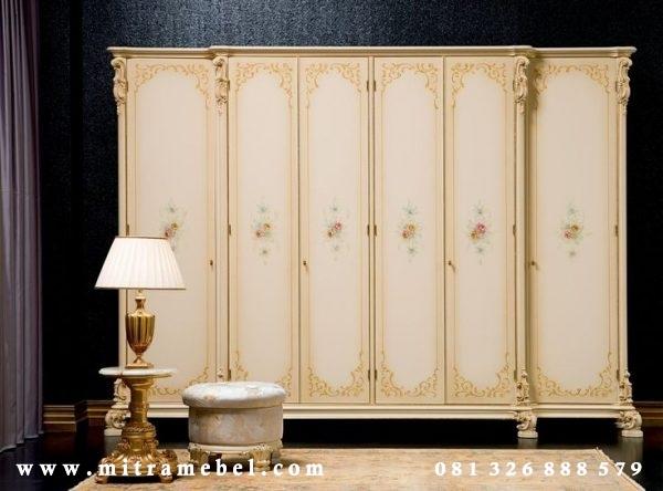Lemari Pakaian 6 Pintu Klasik Elegant