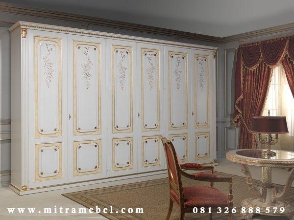 Lemari Pakaian Minimalis 6 Pintu Mewah