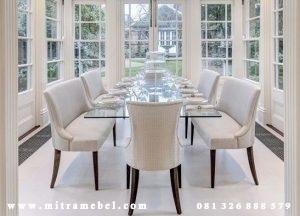 Set Meja Kursi Makan Modern Sofa