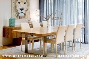 Set Meja Makan Minimalis Keluarga