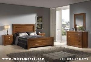 Set Kamar Tidur Minimalis Jati Modern