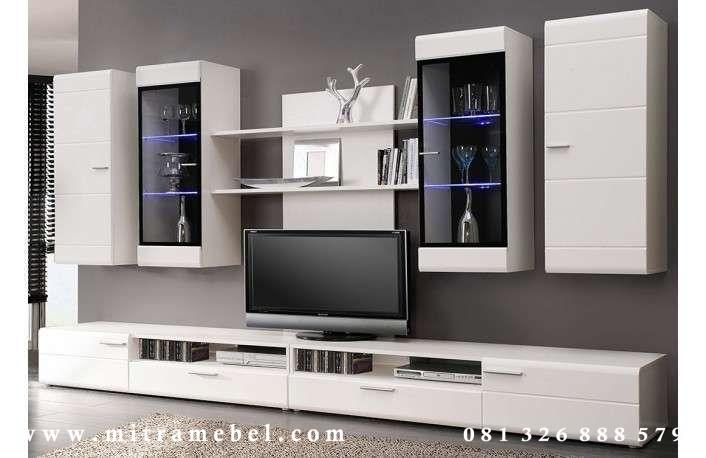 Set Bufet Tv Minimalis Dinding