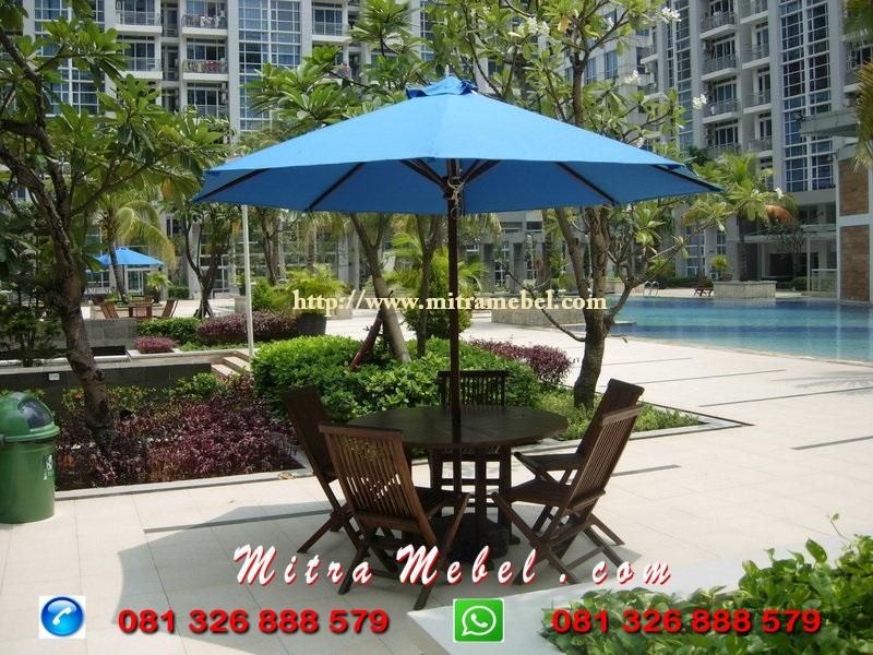Set Meja Payung Kayu Jati