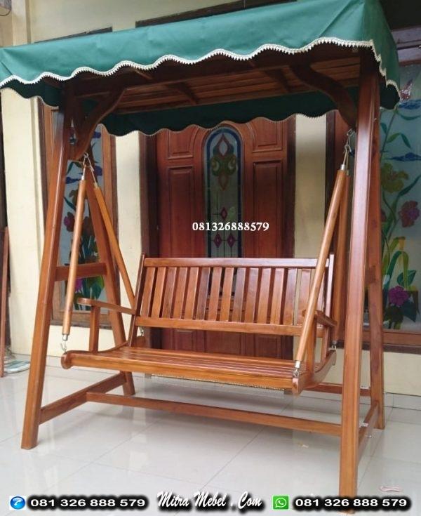 Ayunan Kayu Minimalis Jati Jepara