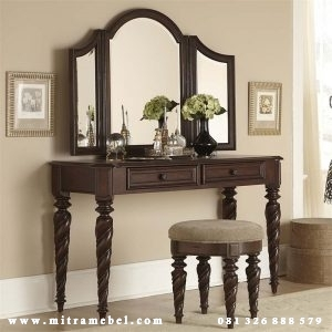 Meja Rias Minimalis Jati Furniture Jepara