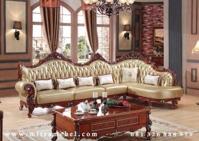 Kursi Tamu Sofa Sudut Ukiran Mewah