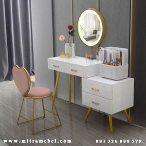 Meja Rias Minimalis Modern Cat Duco Furniture Jepara