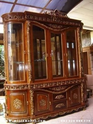 Lemari Hias Kayu Jati furniture Mebel Jepara