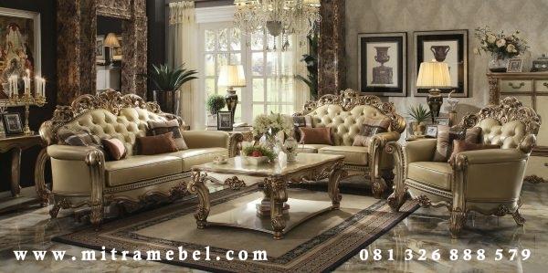 Set Kursi Tamu Mewah ukir kayu Jati Elegant